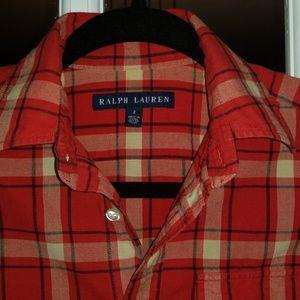 Ralph Lauren Tops - Ralph Lauren Plaid Shirt